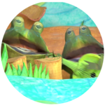 Beaver, Frog, and Frog