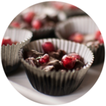 Salted Dark Chocolate Pomegranate Clusters | Cook With Amber