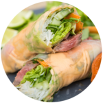 Steak Spring Rolls with Sriracha Mayo and Dipping Sauce | Amber & The Food Busker