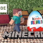 Minecraft Steve's Giant Kinder Surprise
