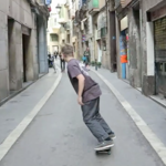 Skateboarding in Barcelona
