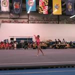 Gymnastics Meet Beam and Floor Champion