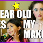 5 Year Old Does My Makeup