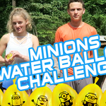 WATER BALLOON CHALLENGE WITH MINION BUNCH O BALLOONS!
