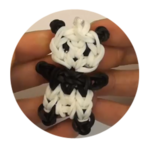 Cute Baby Panda Rainbow Loom Charm/Figurine Tutorial