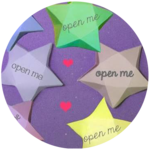 Make Paper Star Fortunes for Valentines Day
