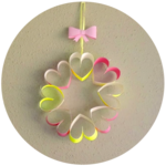 Paper Heart Wreath Tutorial