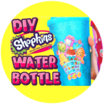 DIY Shopkins Glitter Water Bottle