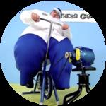 Fitness Gym Powered Ice Cream Stand