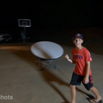 Glow in Dark Frisbee Trick Shots