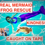 A REAL LIFE MERMAID FROG RESCUE CAUGHT ON TAPE