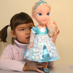 Frozen Elsa Toddler Doll Talks English and Spanish Sings Let it Go Song + Lego Elsa Ice Castle
