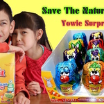 Yowie Chocolate Surprise Eggs Unboxing! Animal Surprise Toys SAVE THE NATURAL WORLD!