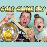 GOLD SLIME DIY Slime Factory Make Your Own Slime Without Borax (GreerGirls)