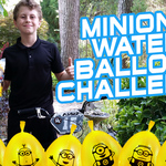Minions Bunch O Balloons | Kid Rocket Water Balloon Challenge