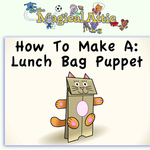 Create-Along: Lunch Bag Cat Puppet