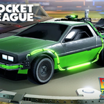 "Rocket League: ""Back to the Future"" DeLorean Gameplay - PS4"