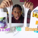 Crazy Art Glue Vs Elmers Glue!