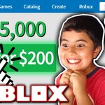 GIVING MY LITTLE BROTHER 35,000 ROBUX!! *$200+ WORTH!* (Roblox) by TwiistedPandora