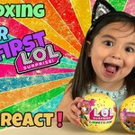 CUTE KIDS REACT to their First LOL Surprise Doll Opening
