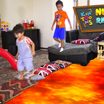 Play & Learn Rhymes with KinToons Nursery Rhyme DJ - The Floor is Lava Challenge