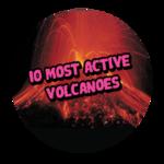 10 Most Active Volcanoes